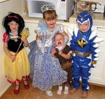 The kids dressed up for Halloween.