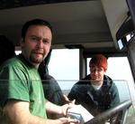 Dave and Mick at the helm...where should we go now?