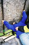 Renee gets a little action in Ireland with the Blarney Stone.