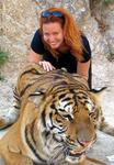 Cherie and the tiger.