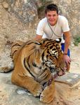 King Ciao (aka Leighton) with the tiger.