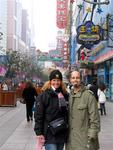 Cherie and Scott (friends since age 16) in Shanghai, China.