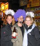 Cherie, Scott and Margaret celebrate the 2005 New Year in Hong Kong.