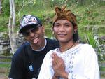 Traditional and non-traditional Balinese men.
