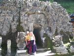 Cherie and Margaret at the Elephant Cave Temple.