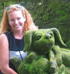 Cherie with a moss puppy. *Photo by Margaret.