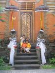 Little girls at the Ubud Palace.
