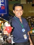 Singapore's most famous drink--the Singapore Sling.