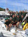 The BVI Yacht Charters crew ready to race in the 2005 Heineken Regatta. *Photo by Jean.