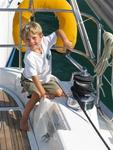 At BVI Yacht Charters, we start training them from a young age. (Jasper, Arjan & Mary's son.)