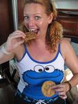 The cookie monster needs a snack.