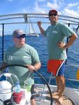 "Mark and Phil, the co-captains of team ""HiHo / BVI Yacht Charters""."