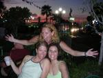 Cherie, Jean and Diane during sunset in St. Maarten. *Photo by Hilda