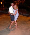 Cherie and Mark dancing on the beach.