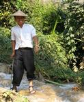 Our guide lost his leg to a land-mine.  He was helping build a pagoda when the land-mine exploded.