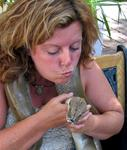 "Anne demonstrates ""How to kiss a snake"", and still leave Key West with your lips in tact."