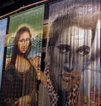 Mona Lisa and Elvis.  I bet they never dreamed they'd hang out in Key West together.