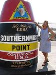 Cherie at the Southernmost point in the continental United States.