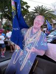 Even though he passed away, Mel Fisher never misses a good parade.