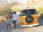 Kevin and Rob with the VW off-roading Bus.