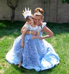 Two Cinderellas--Ellie and Cherie celebrate Ellie's 6th Birthday Princess style.