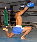 Then the Thai boxers stretch.