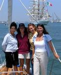 Karem, Diane, Cherie and Trish (and a bunch of friends!) sail alongside fifteen of the world's most cherished tallships.