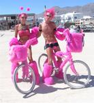 "This pink couple must be headed to the Pink Mammoth, a fantastic ""day-bar"" where everyone looks fabulous in pink!"