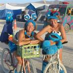 Jean and Cherie go on Burning Man's most critical bike ride.