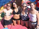 Ladies on the foredeck. *Photo by Cherie.