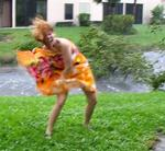 Cherie's Florida vacation gone wrong.  Cherie weathers Hurricane Wilma in Broward County, Florida.