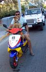 Can your pet ride a moped?