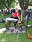 Music in the park--Aussie-style.