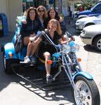 You can fit four on a trike if you are close enough friends!