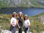 Cherie, Hilda and Diane at Cradle Mountain.