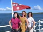 Hilda, Cherie and Diane on the ferry to Fraser Island.