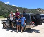 Cherie, Hilda, Diane and the French guys (Pascal and Stefan) with our 4x4.