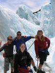 Meet the ice-climbers: Dave (England), Collin (Canada), Sarah (Canada) & Cherie (USA).
