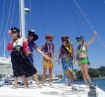 The crew of Profligate won 2nd place ($600 USD) in the costume contest in the Banderas Bay boat parade. *Photo by Billy.