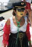 Donna sports the latest in Banderas Bay fashion.  St. Barths watch out! *Photo by Karen Vaccaro S/V Miela.