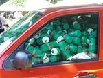 Guess how many water bottles are in this Ford?