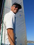 Gary on the foredeck. *Photo by Cherie Sogsti