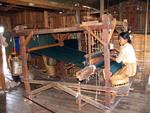 The Intha people are famous for weaving cloth.