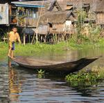 Some people say the Intha people paddle with their legs so they can keep their hands free to fish.