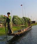 Inle Lake is about 14 miles long and 7 miles wide.