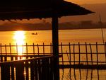 Sunset at Inle Lake.