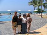 The ladies trip to Ngwe Saung Beach: Jean, Aunt Lynda, Bernadette and Cherie.