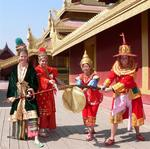 We became a part of history dressed in traditional clothing at the Mya Nan San Kyaw Golden Palace, near Mandalay, Myanmar.