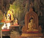 The rushing streams tickle your bare feet as you walk through the cave and admire the Buddhas that are tucked into almost every crack.
