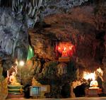 At each bend of the cave there is a new shrine to the Buddha.